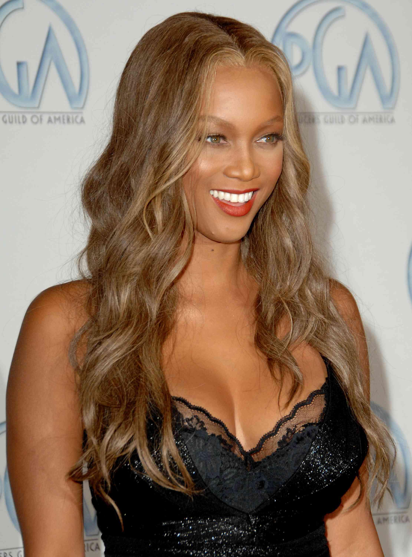 Tyra Banks Ash Brown Hair