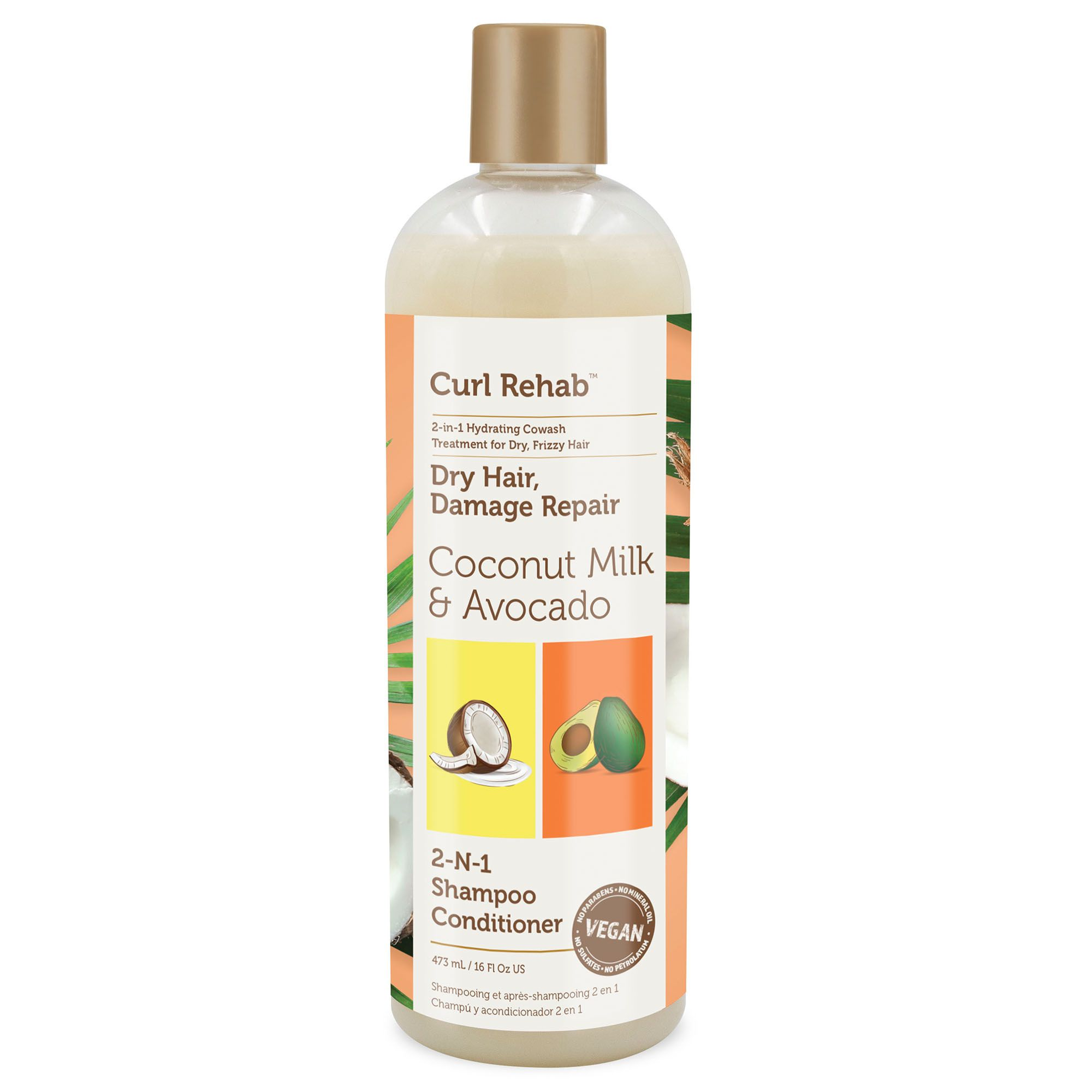 Coconut Milk & Avocado 2 in 1 Shampoo