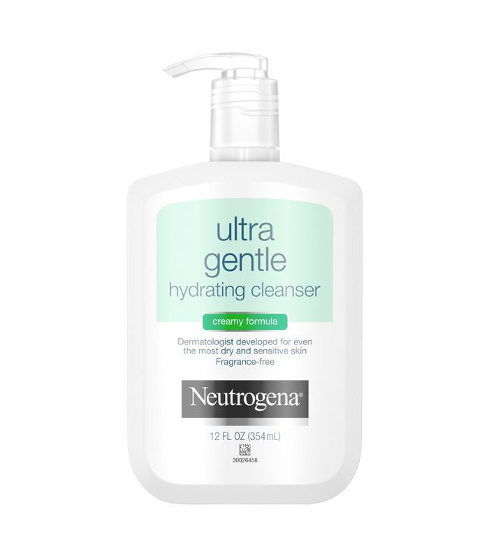 A pump container of Neutrogena Ultra Gentle Facial Cleanser for sensitive skin at Target.