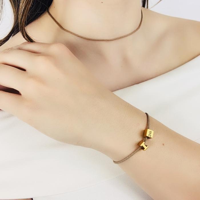 Generation Recycled Cotton String Bracelet