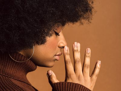 woman with afro curls