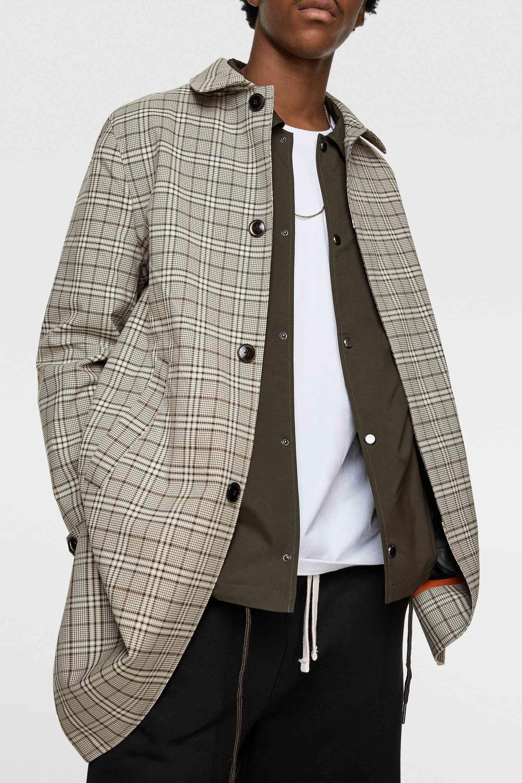Plaid Tweed Coat