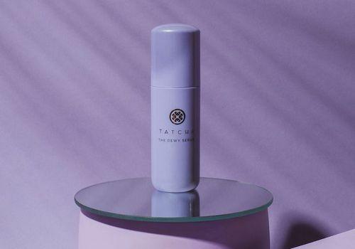 Purple bottle of Tatcha serum