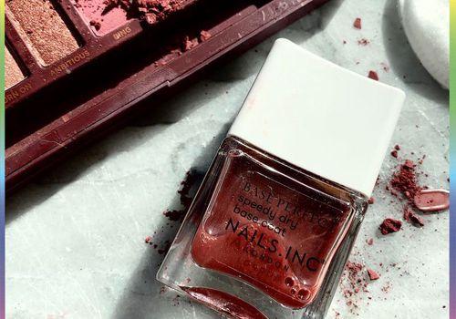 diy nail polish flat lay