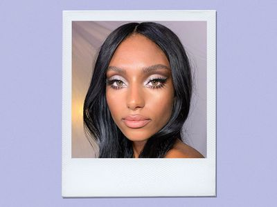 woman wearing shimmery new years eve eyeshadow