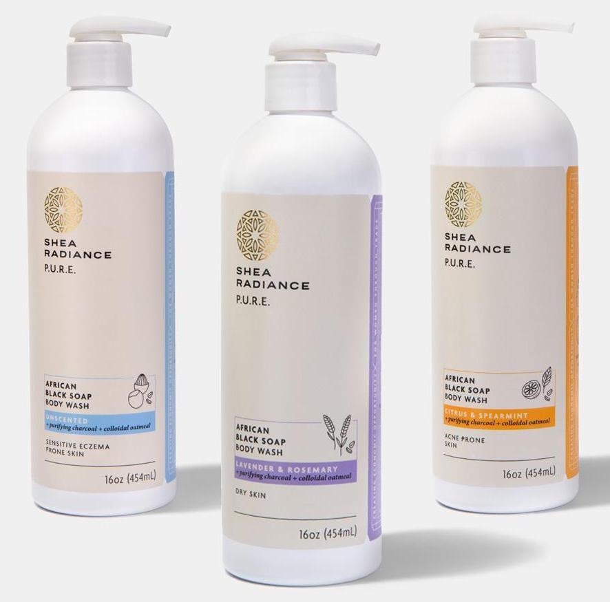 Shea Radiance African Black Soap Body Wash
