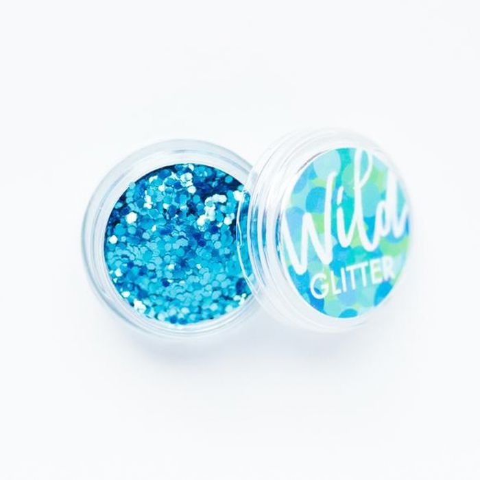 Wild Glitter Biodegradable Vegan Glitter in Chunky Electric Blue