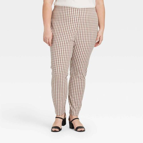 High-Rise Gingham Check Skinny Ankle Pants ($25)