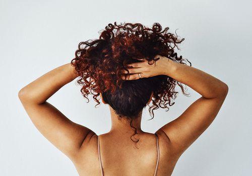 anonymous hair portrait