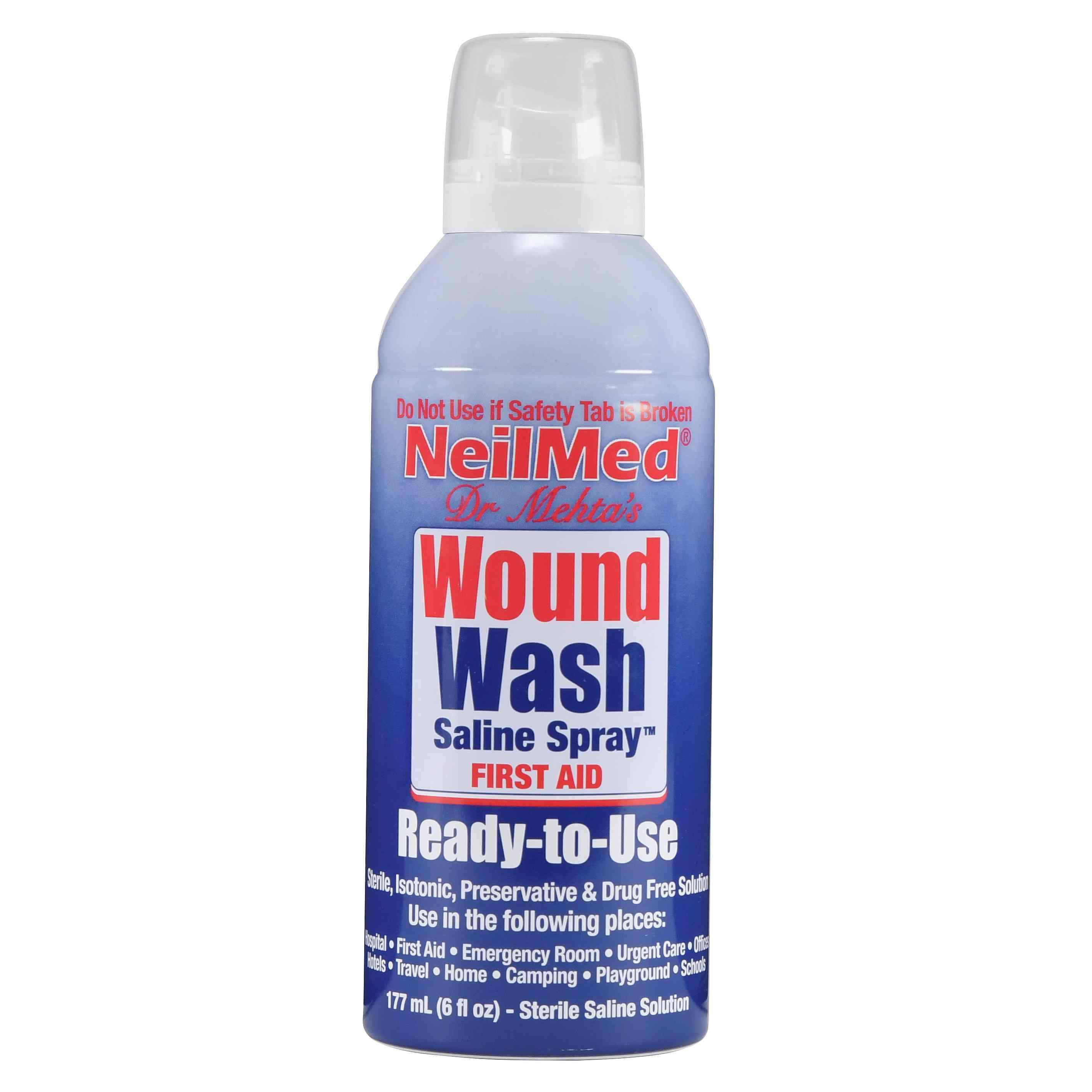 NeilMed Sterile Saline Solution Wound Wash