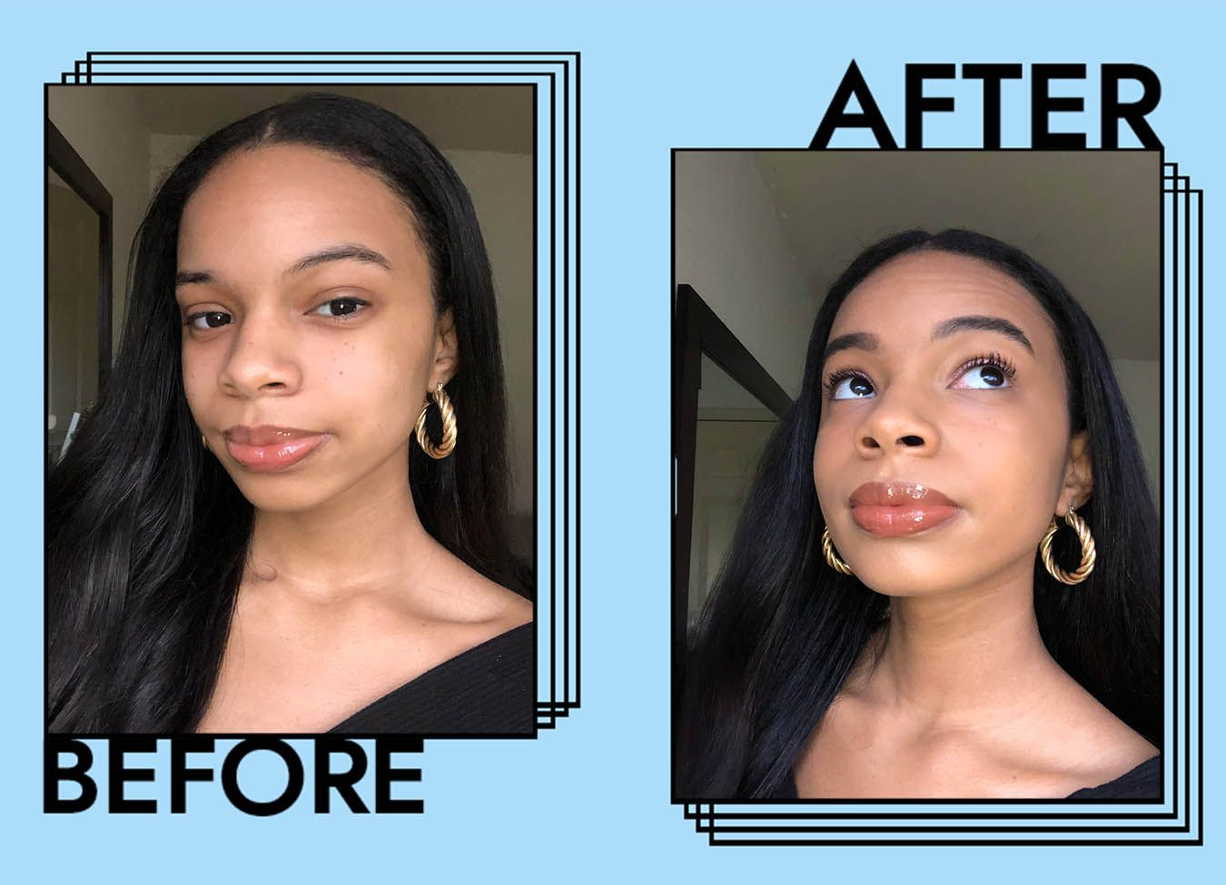 Benefit Mascara Before and After