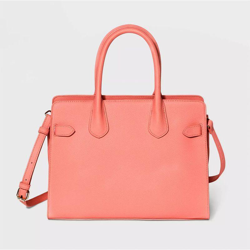 Zip Closure Satchel Handbag