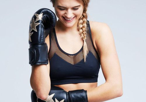 woman in boxing gear