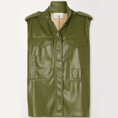 The Frankie Shop Ines Faux Leather Vest