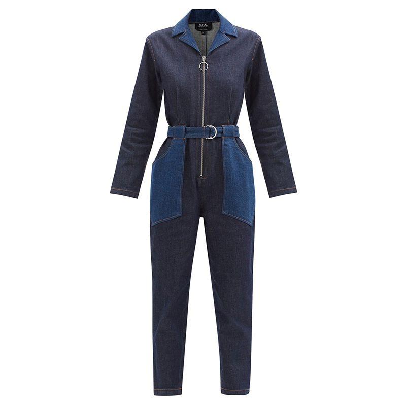 Rosie Belted Denim Jumpsuit
