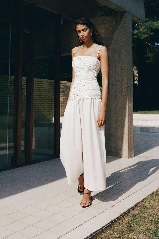 Tove Nola Sand-Wash Silk Trouser