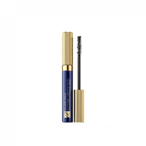 Mascara in blue tube with gold lid