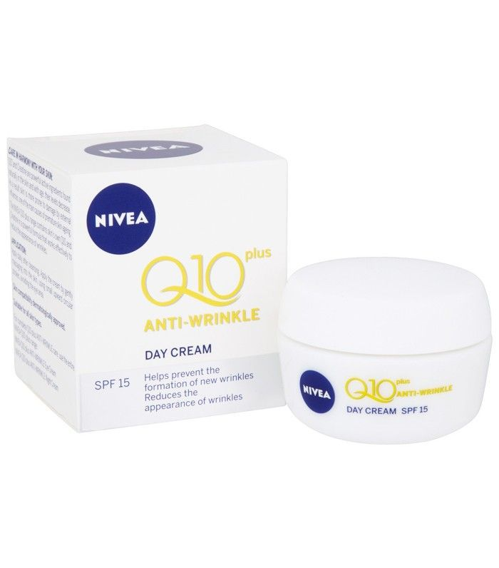 Best anti-wrinkle creams: Nivea Daily Essentials Q10 Plus Anti-Wrinkle Day Cream SPF 15