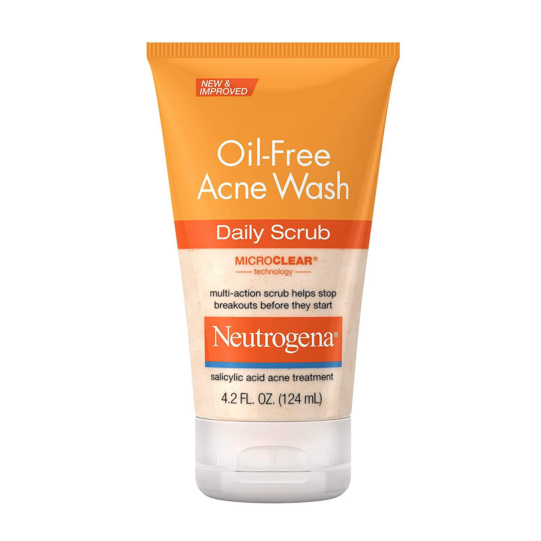 Neutrogena Oil-Free Acne Face Wash Daily Scrub
