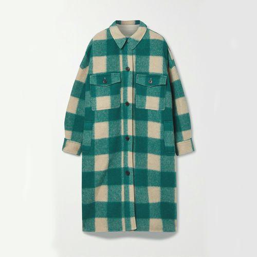 Isabel Marant Étoile Fontizi Oversized Checked Flannel Coat