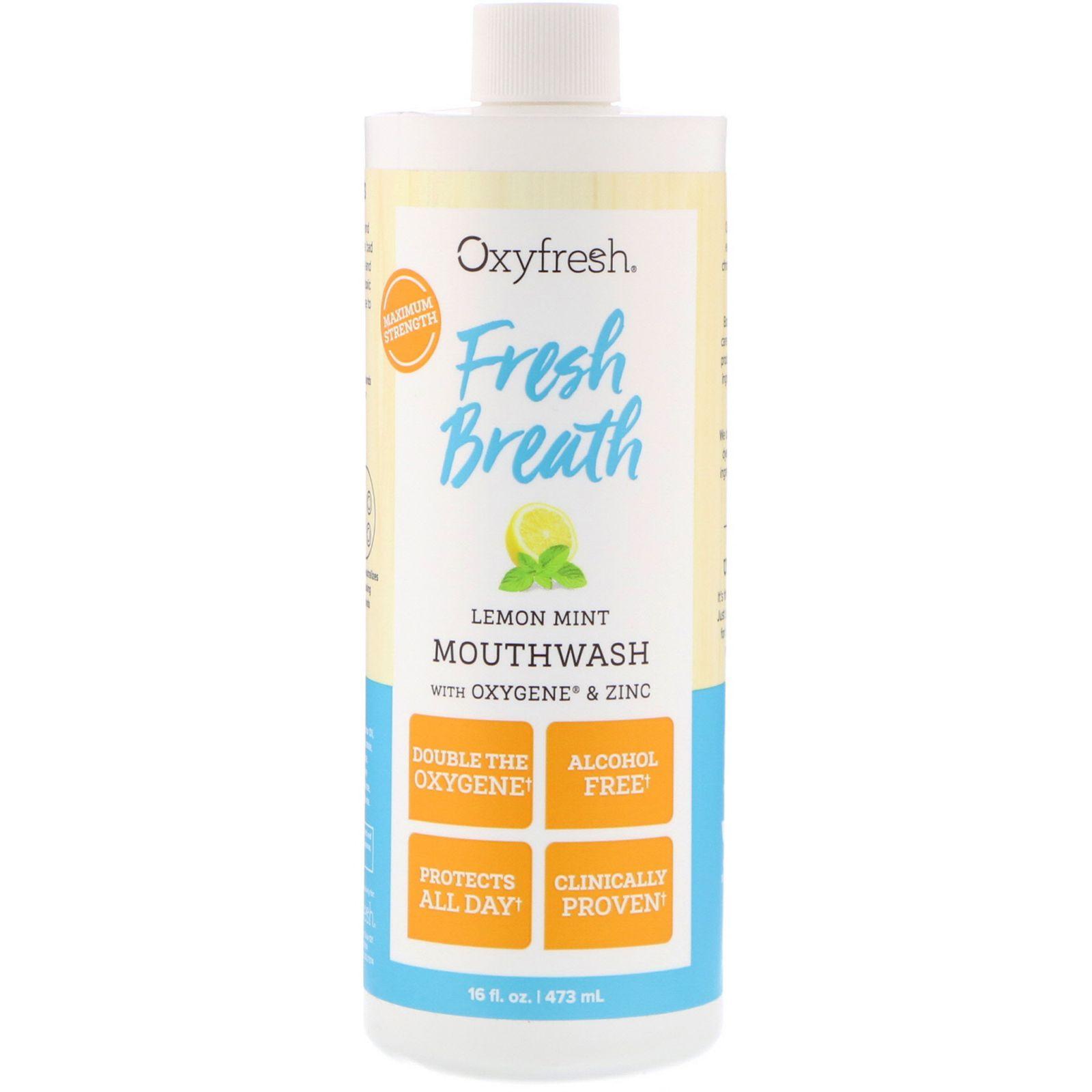 Oxyfresh Fresh Breath Lemon Mint Mouthwash