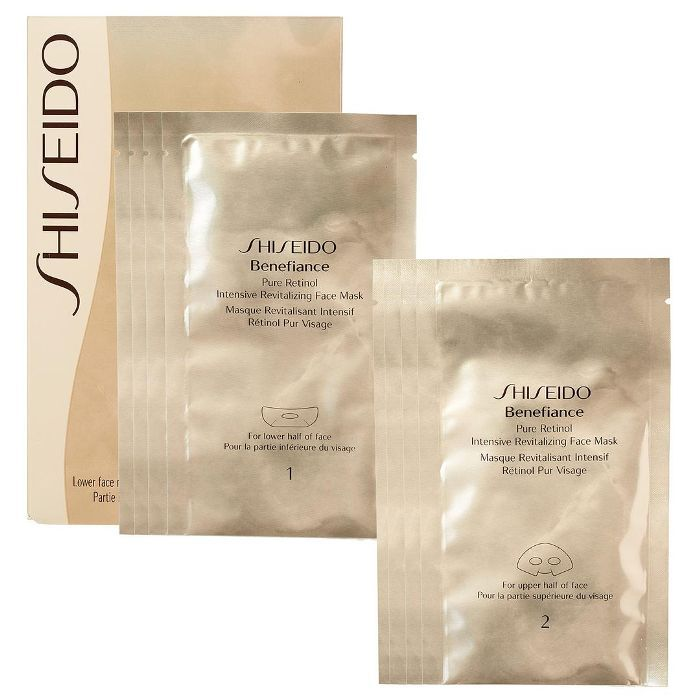 Benefiance Pure Retinol Intensive Revitalizing Face Mask 4x lower mask, 4x upper mask