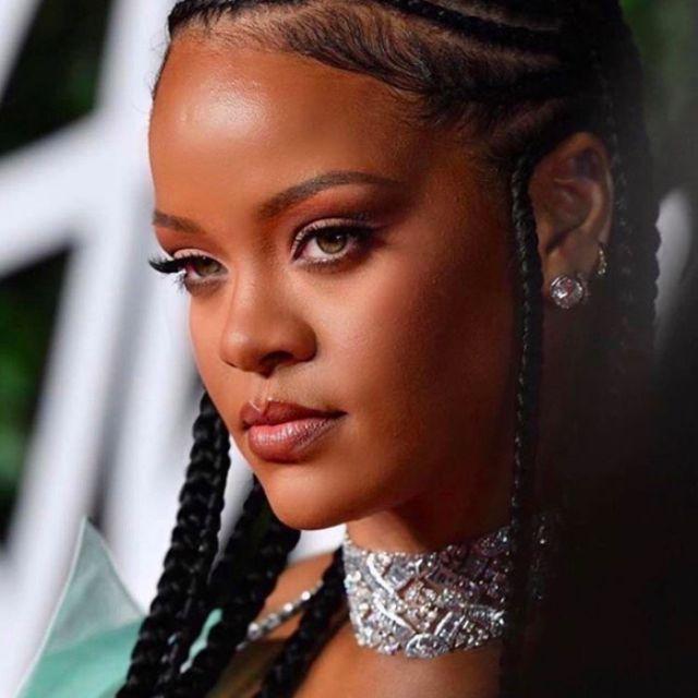 Rihanna braided hair