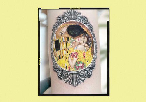 Tattoo of Gustav Klimt's The Kiss