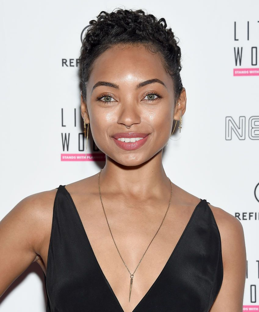 Logan Browning short, curly pixie