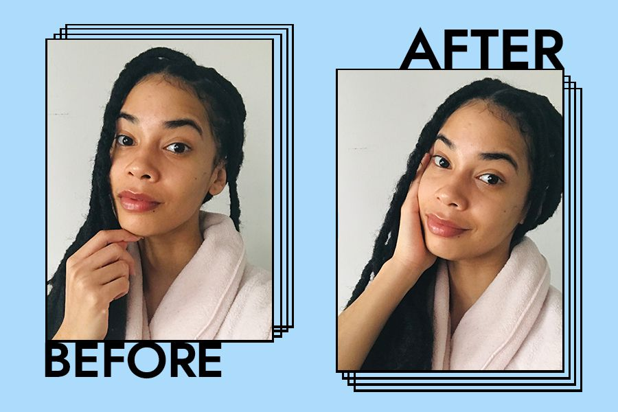 Laneige Water Sleeping Mask before and after