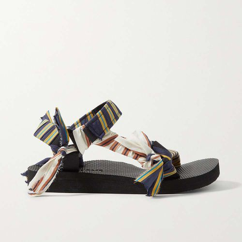 Trekky Striped Gauze-Trimmed Canvas Sandals ($225)