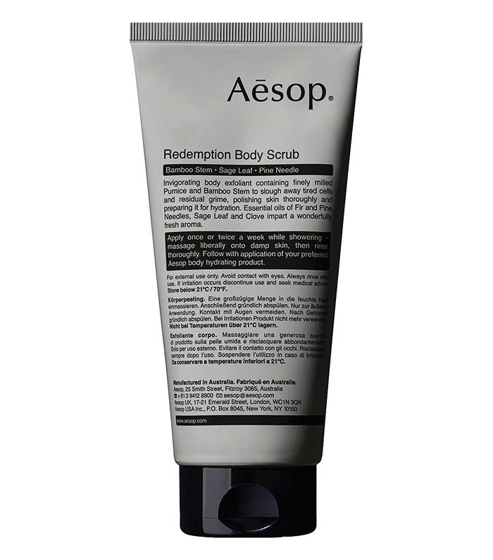 Beauty products that smell like christmas: Aesop Redemption Body Scrub