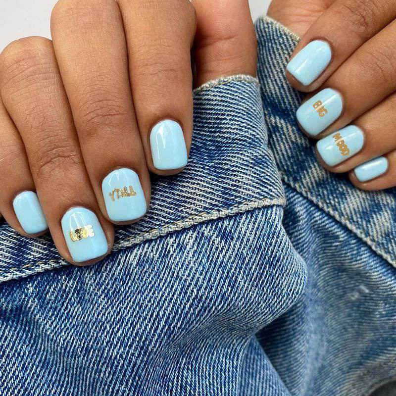 Simple Nail Designs Words