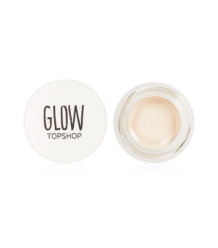 metallic makeup ideas: Topshop Glow