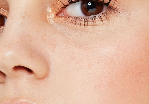 close up of woman's face