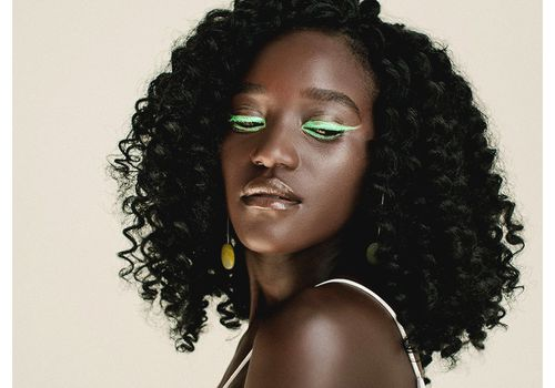 closeup of person with twist out natural hair
