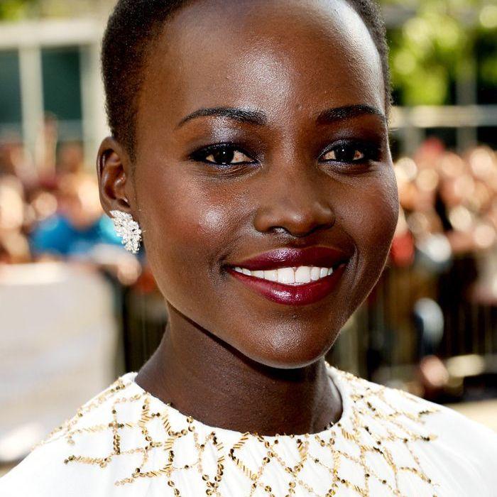 buzz-cut-women: Lupita N'Yongo with a buzz cut