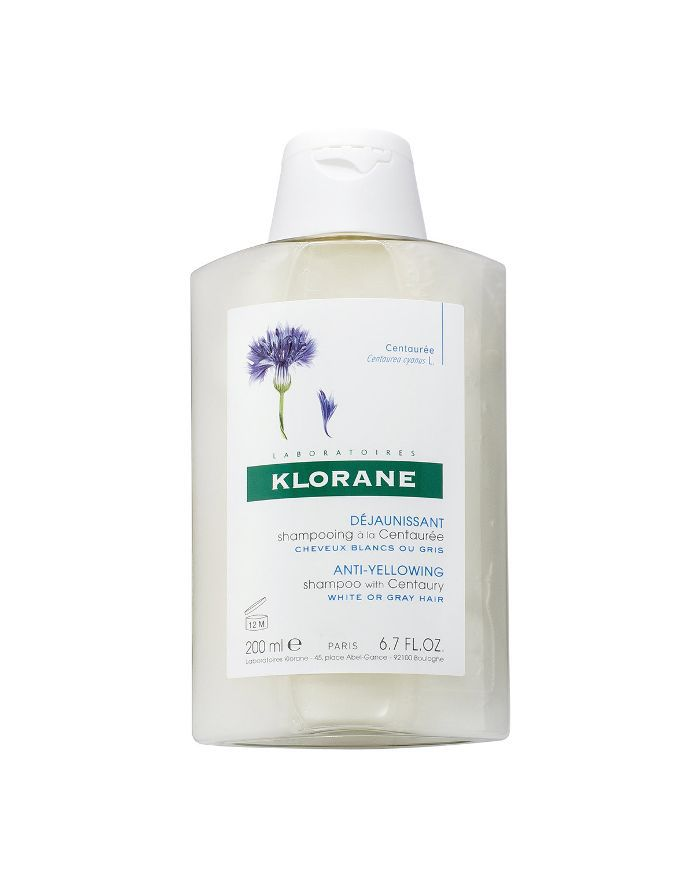 Klorane Anti-Yellowing Shampoo with Centaury for White And Silver Hair