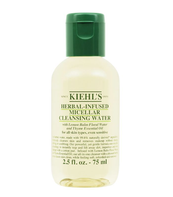 how to take off makeup without makeup wipes: Kiehl's Herbal-Infused Micellar Cleansing Water