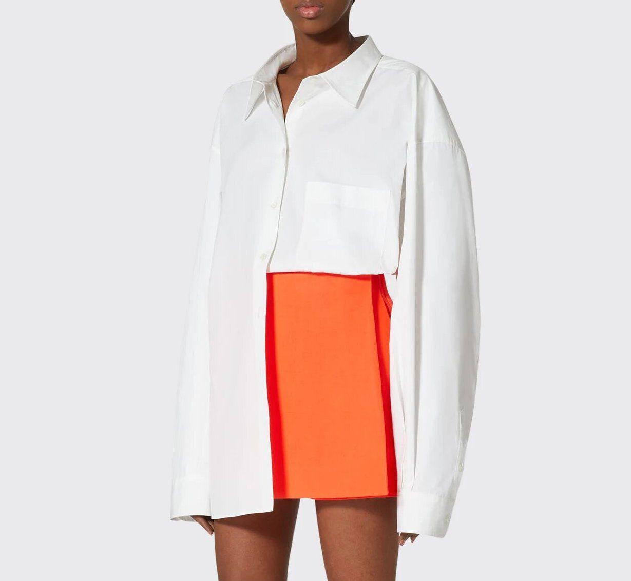 Valentino Camicia Oversize Button-Down Cotton Shirt