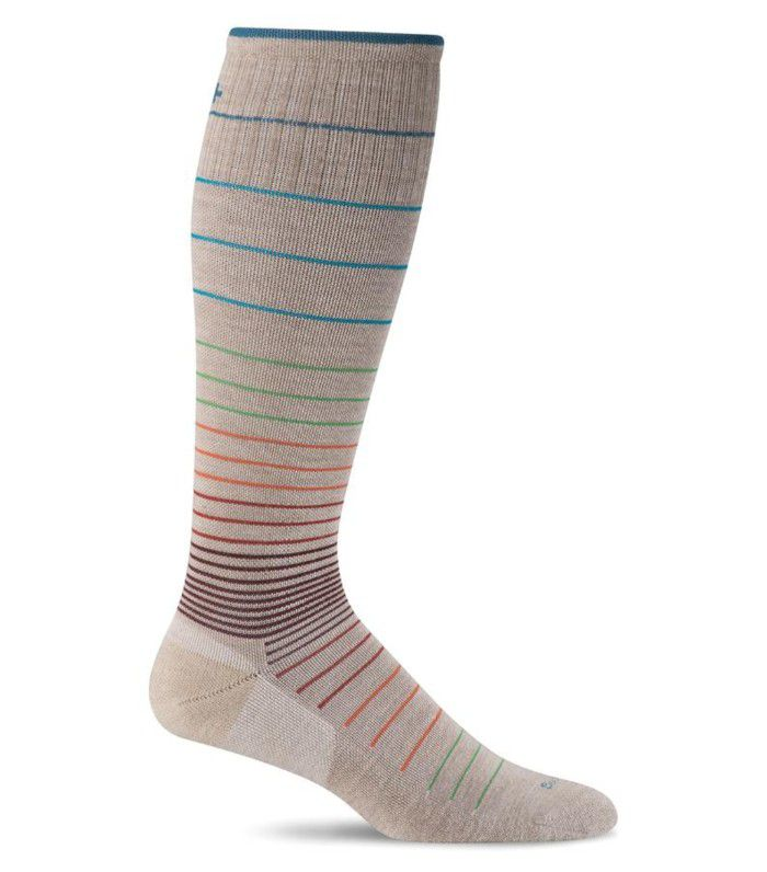 Sockwell compression socks with colorful bands