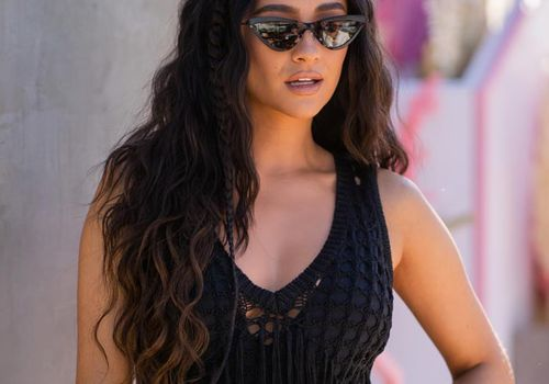 Shay Mitchell with long hair
