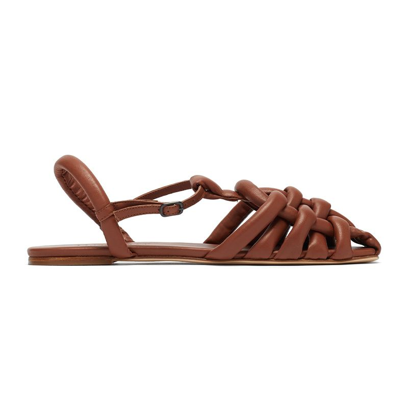 Cabersa Woven Padded Leather Sandals