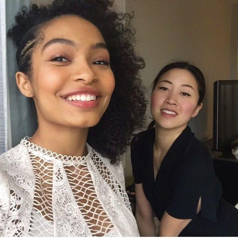 Emily Cheng with Yara Shahidi