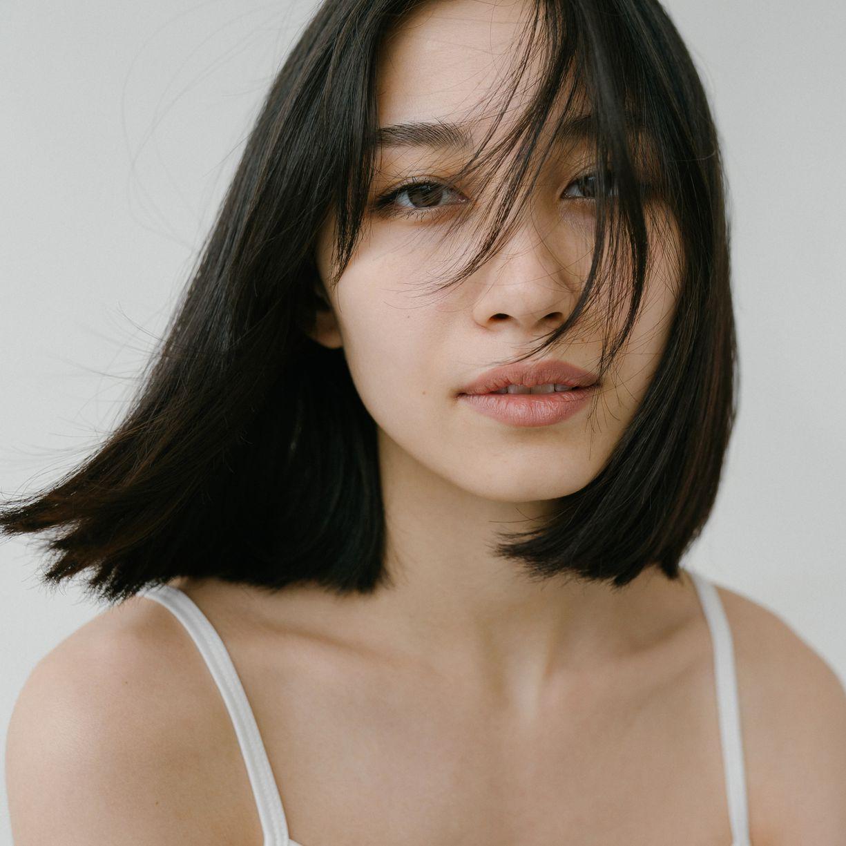 straight hair perm portrait
