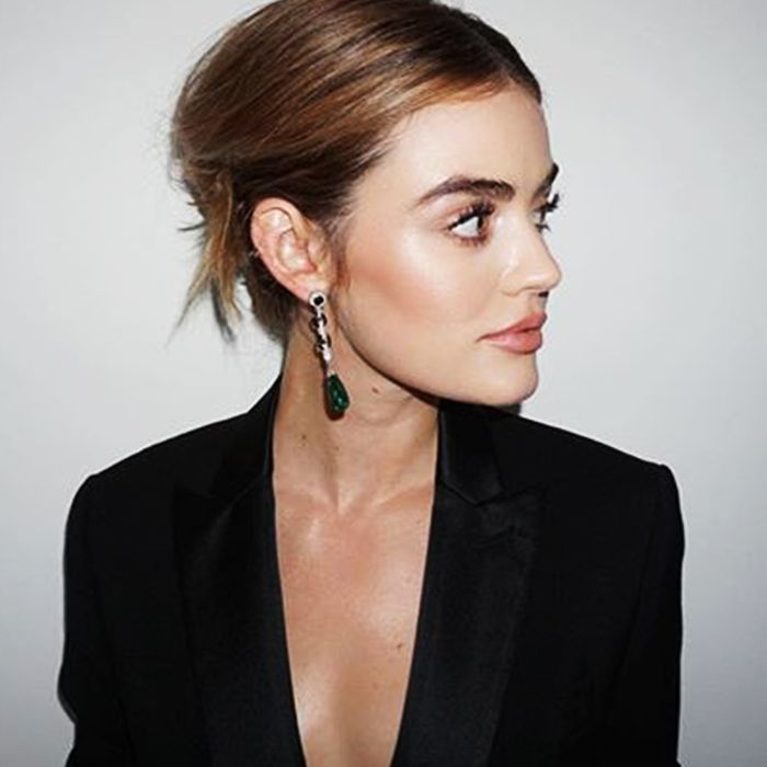 lowlights for brown hair: lucy hale