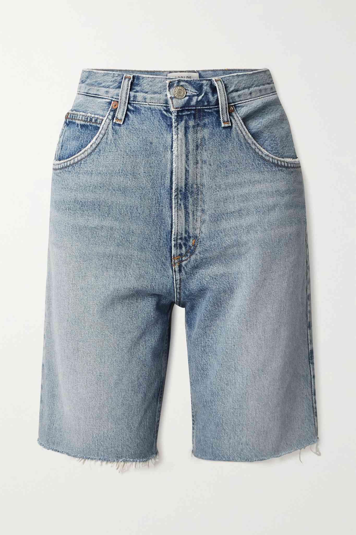 Agolde Pinch Distressed Organic Denim Shorts