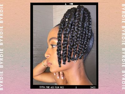woman with braided ponytail hair