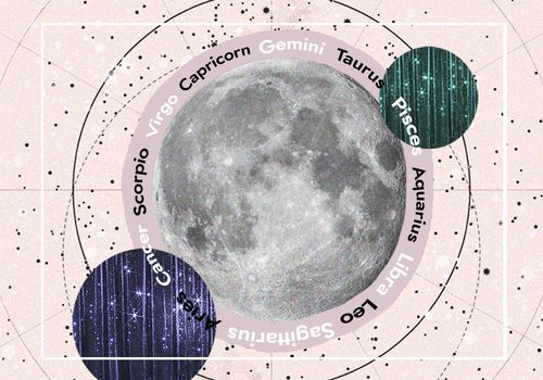 the astrological signs around a moon on a map of the constellation
