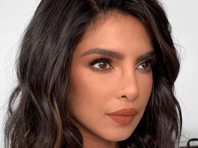 priyanka chopra wearing burnt orange lipstick
